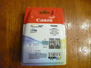 Original Canon Ink Cartridges 510 511 Twin pack