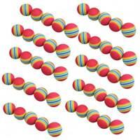 50pcs Golf Swing Training Aids Indoor Practice Sponge Foam Rainbow Balls Home UK