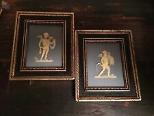 Vtg Pair Cameo Angels Framed Wall Hanging Burwood Prod Co Usa Collectible
