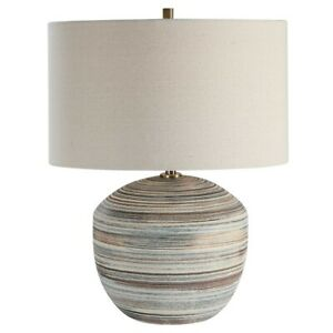 Uttermost Prospect Striped Accent Lamp, Light Brushed Brass Plated - 28441-1