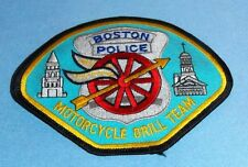 Boston Police Motorcycle Drill Team Embroidered Patch NEW