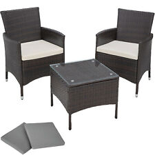 Aluminio Ratán Sintético Muebles Set Conjunto para jardín Comedor mesa
