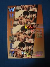 Whitney 1999 World Tour Guest Backstage pass Unused