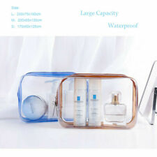 Clear Travel Zipper Wallet Case Cosmetic Wash Storage Bag Makeup Pouch