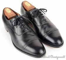 BROOKS BROTHERS Curzon Black Leather Cap Toe Dress Shoes ENGLAND - 41 E / 8.5