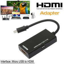 MHL Micro USB to HDMI 1080P A/V TV Adapter Cable Wire Converter for Samsung HDTV