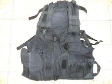 Israeli Army Idf Vest Webbing Pistol Holster Pouch Black.One Panel Zahal Para SF