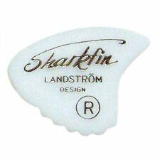 More details for 6 x original sharkfin pick plectrum medium white gp10m