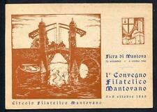 28795) ITALIA 1946 C.P. 1° Convegno Filatelico Mantovano