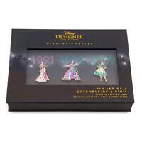 Disney Princess Pin Set Designer Collection Set Two Limited Edition NRFB New