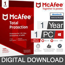McAfee 2019 Total Protection 1 Device Pc/mac/android/smartphones Download