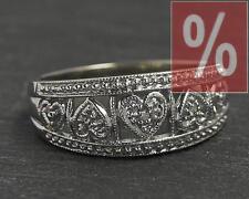 Gold Diamanten Ring mit 3 Brillanten, 10 Karat Weißgold Diamantring, Damen, Neu