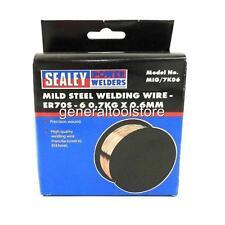 Sealey Acier Doux de soudage MIG Soudeur fil 0.7 kg x 0.6 mm MIG/7K06 Precision Blessure