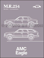 AMC Eagle Body Repair Manual 1984 1985 1986 1987 1988 American Motors MR254 Shop