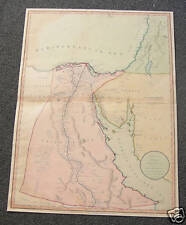 EGYPT ARABIA PALESTINE ETC. LARGE MAP (APPROX 18 x 25 INCHES) WATERMARKED 1805
