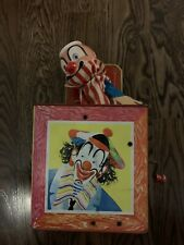 VINTAGE 1953 MATTEL CLOWN JACK IN THE BOX Great Color. Nice!