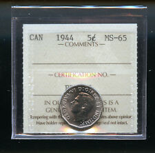 1944 Canada 5 Cents ICCS Certified MS65 DCB182