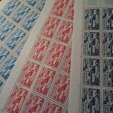MAROCCO MOROCCO المغرب N°383/385 SHEET FOGLIO DI 25 NEUF LUXE MNH VALORE