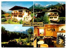 Haus Grollwies Konigssee Postcard Germany Bavaria Lake Vintage Posted 1982
