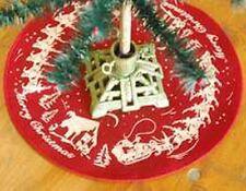 "VINTAGE STYLE CHRISTMAS TREE MAT SKIRT 12 1/2"" Lancaster Market LM5769"