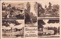 uralte AK, Schweinfurt am Main, verschiedene Ansichten, Feldpost 1941