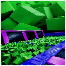 "Foam Pits - Pit Foam Blocks 500 pcs (LIME GREEN) 4""x4""x4""  Flame Retardant Foam"