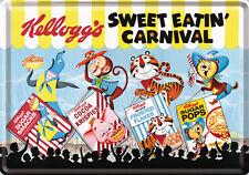 Nostalgic Art Carte Postale en Tôle / Métal Kellogg´S Sweet Effet Carnival