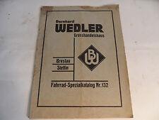 alter Katalog Nr. 132 Bernhard Wedler Fahrrad