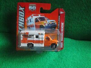 MATCHBOX 2009 FORD E-350 AMBULANCE (LOT L30) CAR MINT CARD OPENED