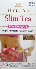 Hyleys 100% Natural Slim Green Tea Pomegranate Flavor, 25 Teabags -Please Choose