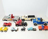 Lot of 10 Vintage Trucks Tonka Buddy L Kenworth Micro Machines Nylint