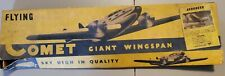 "Vintage Aeroneer Flying Comet Model Plane WWII Airplane Kit Balsa 40"" Wingspan"