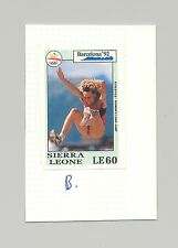 Sierra Leone #1514 Olympics 1v Imperf Proof on Card, Different than Issued