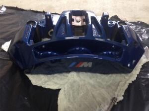 Genuine BMW F10 M5 F12 F13 M6 Blue Brembo Front Brake Calipers Housing Pair