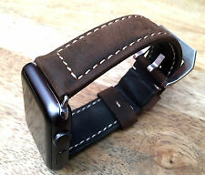 Quality Vintage Brown Leather Watch Strap  Band for Apple Watch 38mm Series 2 3