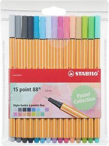STABILO punto 88–Confezione di pennarelli punta fine -Fluorescenti Colori...