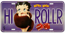 High Roller Betty Boop Novelty Number Plate USA Size Garage Man Cave Pool Room