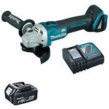 MAKITA 18V LXT DGA454 DGA454Z ANGLE GRINDER, BL1840 BATTERY AND DC18RC CHARGER
