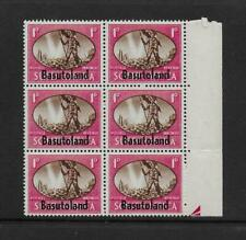 "1945 Basutoland 1d SG29a ""barbed wire flaw"" Positional Block of 6 Unmounted Mint"