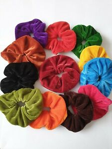SELECT PAIR OF TWO EXTRA LARGE VELVET HAIR SCRUNCHIES IN 13 COLORS