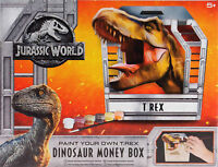 Jurassic World Paint Your Own Dinosaur T-Rex Money Box Ceramic Safe Cash R07-086
