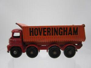 Vtg 1960s Matchbox Lesney #17 Hoveringham Tipper Foden Truck Dump Red & Orange