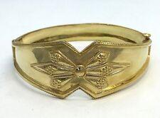 18k Yellow Gold Vintage Bangle Bracelet 27.2 Grams
