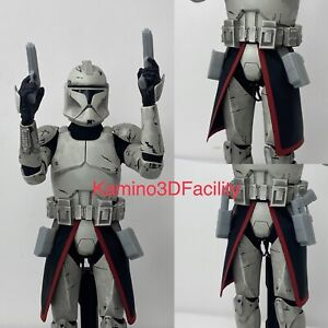 "Star Wars 1/6 ARC Trooper Kama (Red) with DC-17 & Holster For Custom 12""Figure"