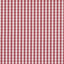 Prestigious Red gingham Fabric, Jacquard 137cm Wide, 100% Cotton