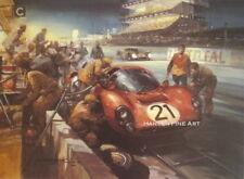 Ferrari P4 Le Mans 24 Hour Motor Sport Racing Car Michael Turner Art Print