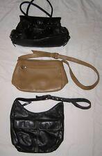 3 Quality Purse Bag Lot - Stone Mountain, Italian Leather  Medium  Black, Tan
