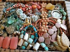HUGE 15+lbs Vintage Mod Wearable Jewelry LOT Necklaces Bracelets Earrings Rings+