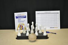 SHUFFLEBOARD TABLE BOWLING WHITE PINS + REGULATION PINSETTER + BALL +BONUS!