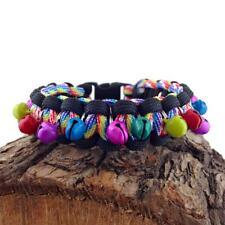 Rainbow Paracord Charm Bracelet Friendship Festival Bracelet Handmade in UK